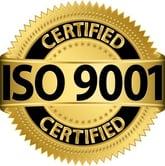 ISO 9001 Certified logo, vector
