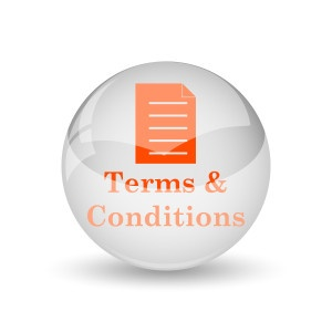 (Buyer) Terms and conditions icon. Internet button on white background.